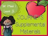 Journeys - Kindergarten Lesson 26 - Unit 6, Week 1 - Supplemental Materials