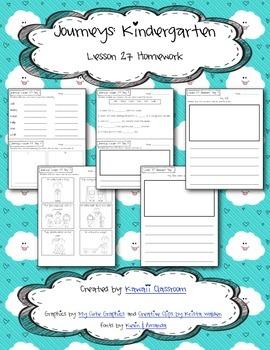 Journeys Kindergarten Lesson 27 Homework