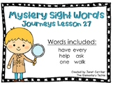 Journeys Kindergarten Lesson 27 Mystery Sight Word Interactive Game
