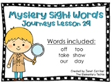 Journeys Kindergarten Lesson 29 Mystery Sight Word Interactive Game