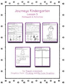 Journeys Kindergarten Lesson 3 Homework & Classwork