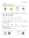 """Journeys Kindergarten Lesson 6 """"My Five Senses"""" Assessment"""
