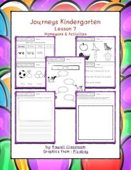 Journeys Kindergarten Lesson 7 Homework & Classwork