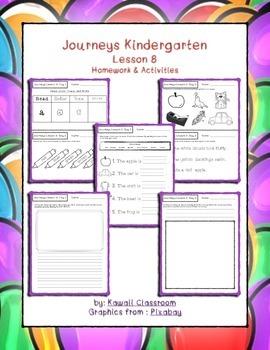 Journeys Kindergarten Lesson 8 Homework & Classwork