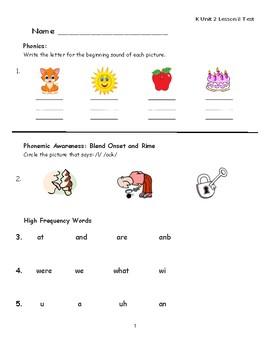 """Journeys Kindergarten Lesson 8 """"Move"""" Assessment"""