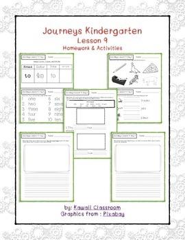 Journeys Kindergarten Lesson 9 Homework & Classwork