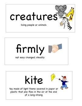 Journey's Kindergarten Oral Vocabulary Unit 6