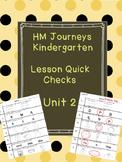 Journeys Kindergarten Quick Checks-Unit 2