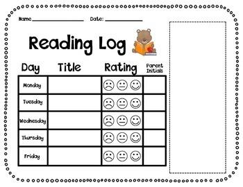 Journeys Kindergarten Reading Log with Sight Word Flashcards