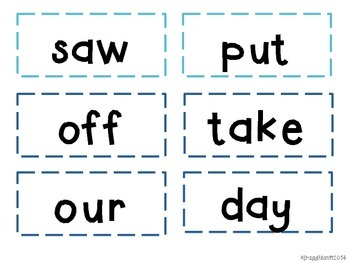 Journeys Kindergarten Sight Word Cards