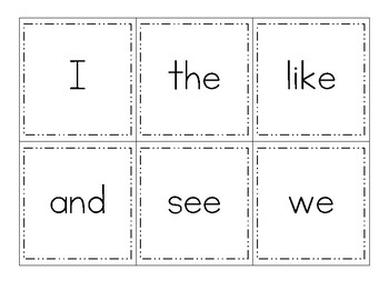 Journeys Kindergarten Sight Word Cards 2012