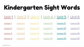 Journeys Kindergarten Sight Word Google Slides Slideshow