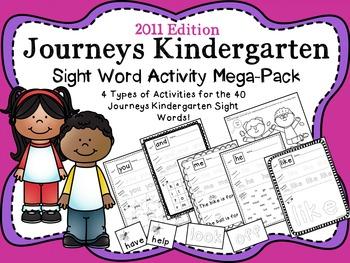 Journeys Kindergarten Sight Word Mega Pack {2011 edition}
