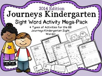 Journeys Kindergarten Sight Word Mega Pack {2014 edition}
