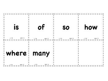 Journeys - Kindergarten - Sight Words