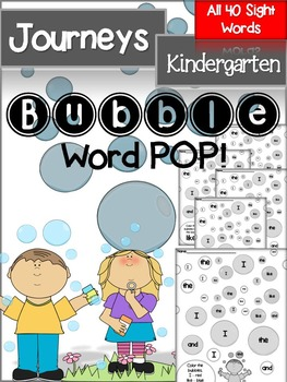 Journeys Kindergarten Sight Words Bubble Pop!
