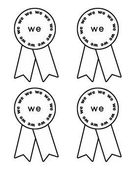 Journeys Kindergarten Sight Words Bundle Unit 1-6 2012 Edition