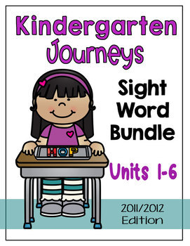 Journeys Kindergarten Sight Words Bundle Unit 1-6 2012 Edition
