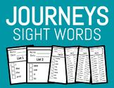 Journeys Kindergarten Sight Words - Mini checklists