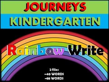 Journeys Kindergarten Sight Words-Rainbow Write (2 files~