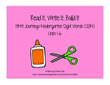 Journeys Kindergarten Sight Words: Read It, Trace, It, Bui