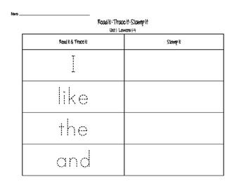 Journeys Kindergarten Sight Words: Read It, Trace, It, Stamp It 2014 Edition