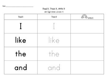 Journeys Kindergarten Sight Words: Read It, Trace It, Write It 2014 Edition