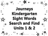 Journeys Kindergarten Sight Words Search and Find Units 1& 2