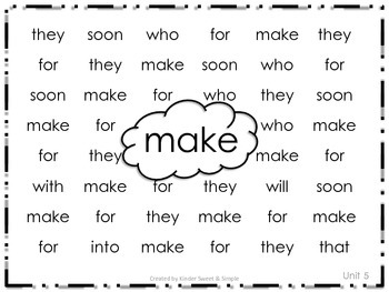 Journeys Kindergarten Sight Words Search and Find Units 5 and 6