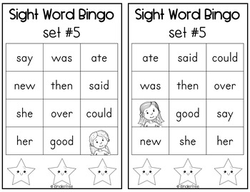 Journeys Kindergarten Sight Words Set 5
