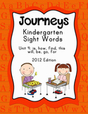 Journeys Kindergarten Sight Words: Unit 4: 2012 Edition