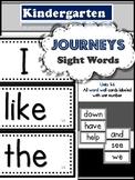 Journeys Kindergarten Sight Words Units 1-6 (88 words)