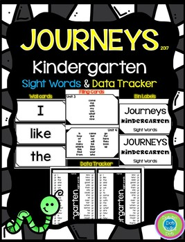 Journeys Kindergarten Sight Words Wall Cards & Data Trackers - 2017
