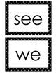 Journeys Kindergarten Sight Words for Word Wall (black polka dot)