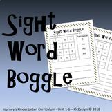 Journeys Kindergarten Unit 1-6 Boggle Boards Sight Words
