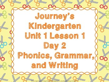 Journeys Kindergarten Unit 1 Lesson 1 Day 2 PowerPoint