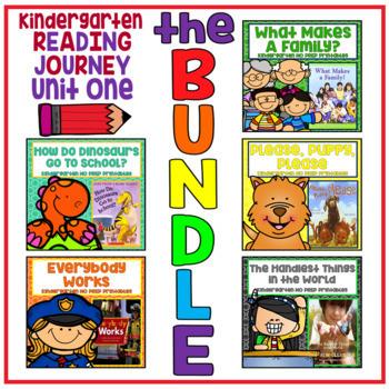 Take a Reading Journey Kindergarten Unit 1 NO PREP Printable BUNDLE Lessons 1-5