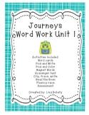 Journeys Kindergarten Unit 1 Word Work