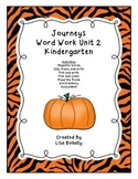 Journeys Kindergarten Unit 2 Word Work