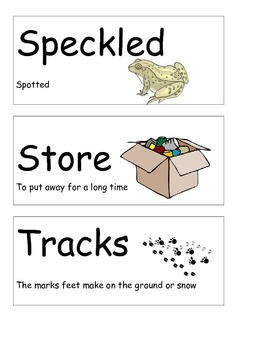 Journeys Kindergarten Unit 3 Vocabulary Cards with Pictures