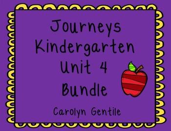 Journeys Kindergarten Unit 4 Bundle 2012 Bundle