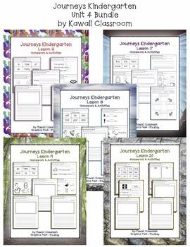 Journeys Kindergarten Unit 4 Homework & Classwork