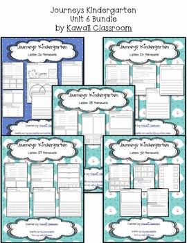 Journeys Kindergarten Unit 6 Homework & Classwork