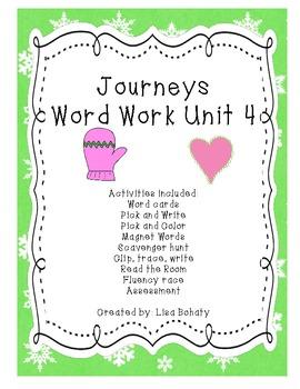 Journeys Kindergarten Unit 4 Word Work