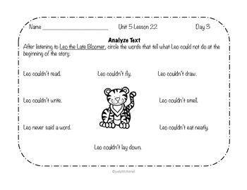Journeys-Kindergarten Unit 5 Lesson 22