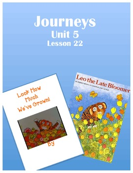 Journeys Kindergarten Unit 5 Lesson 22 class book