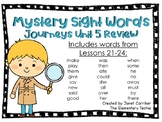 Journeys Kindergarten Unit 5 Review Mystery Sight Word Interactive Game
