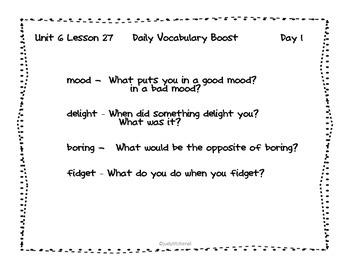 Journeys - Kindergarten Unit 6 Lesson 27