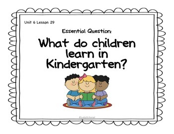 Journeys Kindergarten-Unit 6 Lesson 29