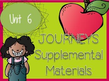 Journeys - Kindergarten Unit 6 - Supplemental Materials